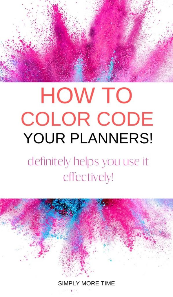color coding for planners